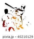 野球 バッター 試合のイラスト 40210129
