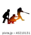 野球 バッター キャッチャーのイラスト 40210131