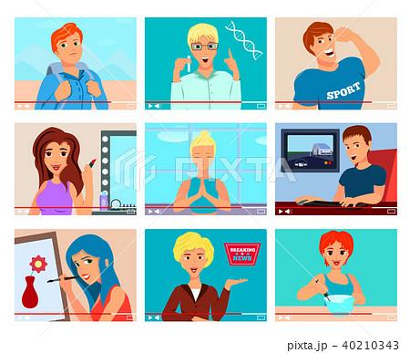 Video Bloggers Characters Flat Set 40210343