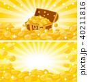 金貨と宝箱のバナー背景イラスト 40211816