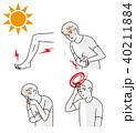 熱中症 体調不良 男性のイラスト 40211884
