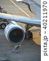 旅客機 飛行機 ジェット機の写真 40211970