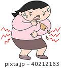 食中毒 食あたり 嘔吐のイラスト 40212163