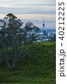 ニュージーランド オークランド マウント・エデンからのスカイタワー 40212225