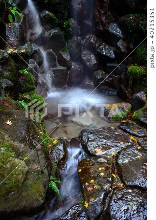 日本庭園の滝 40215351