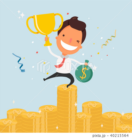 business cartoon character success のイラスト素材 40215564 pixta