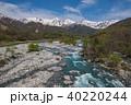 白馬三山と松川の清流 40220244