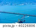 関門海峡 関門橋 海の写真 40226806