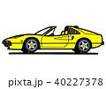 イタリアンスポーツ 黄色 自動車イラスト 40227378