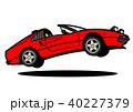 イタリアンスポーツ 赤色 ジャンプ 自動車イラスト 40227379