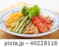 冷やし中華 ごまだれ 食べ物の写真 40228116