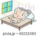 熱中症 日射病 老人のイラスト 40232083