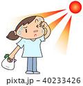 熱中症 日射病 酷暑のイラスト 40233426