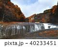 【紅葉最盛期】吹割の滝・吹割渓谷の紅葉(午後) 40233451