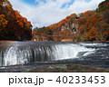 【紅葉最盛期】吹割の滝・吹割渓谷の紅葉(午後) 40233453