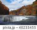 【紅葉最盛期】吹割の滝・吹割渓谷の紅葉(午後) 40233455