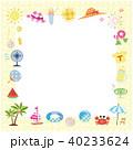 夏素材 パターン生地風 フレーム  40233624