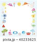 夏素材 パターン生地風 フレーム  40233625