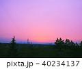 夕日と鉄塔 40234137