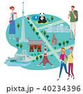 インバウンド イラスト 観光客 40234396