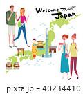 インバウンド イラスト 観光客 日本地図 40234410