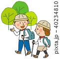 トレッキング ハイキング ベクターのイラスト 40234810