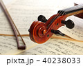 楽譜とヴァイオリン 40238033