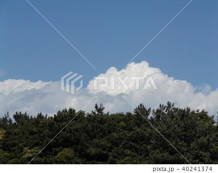 初夏の青空に白い雲 40241374
