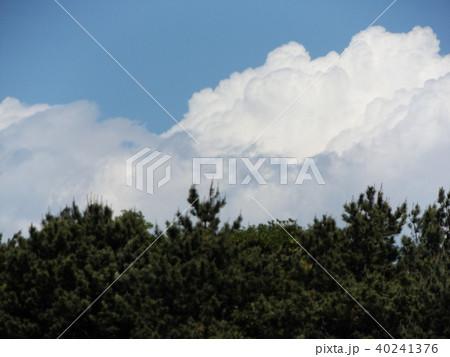 初夏の青空に白い雲 40241376