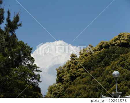 初夏の青空に白い雲 40241378