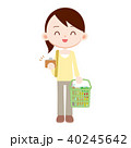 支払い 女性 買い出しのイラスト 40245642