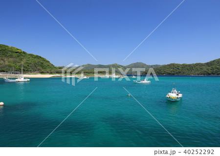 五島列島 有福島の海の写真素材 ...