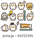 歯 虫歯 歯みがきのイラスト 40252395