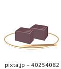 羊羹 和菓子 菓子のイラスト 40254082