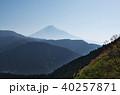 富士山 青空 佐野峠の写真 40257871