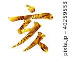 亥 年賀状 筆文字のイラスト 40259553