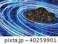 ネットワーク クラウド クラウドコンピュータのイラスト 40259901