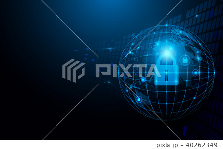 Abstract global and network and security concept. 40262349