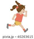 走る 子供 女の子のイラスト 40263615
