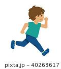 走る 子供 男の子のイラスト 40263617