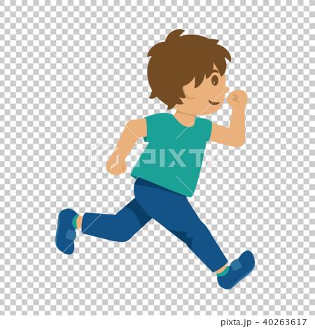 走る男の子 40263617