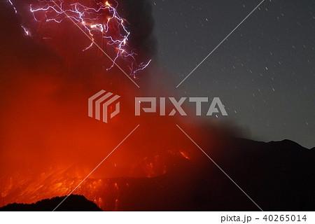 桜島火山雷 40265014