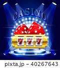 カジノ カジノの スロットのイラスト 40267643