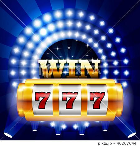 Jackpot - 777 on casino slot machine, big win 40267644