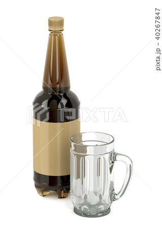 Empty mug and beer bottle 40267847