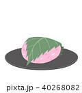桜餅 和菓子 スイーツのイラスト 40268082