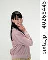 笑顔の若い女性のポートレート 40268445