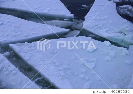 網走 流氷観光砕氷船 おーろら号からのサンセットクルーズで見た流氷 40269586