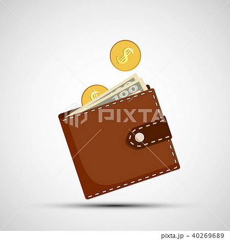 Purse with money 40269689
