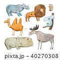 動物 ヘラジカ 大鹿のイラスト 40270308